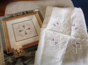 Emie Bishop-Hardanger and couted thread