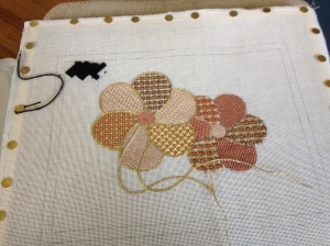 Nejerbana Flowers-charted needlepoint by Jinice