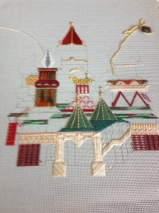 Beautiful St. Basil's Cathedral by Carole Lake. One of the best classes I have EVER taken.