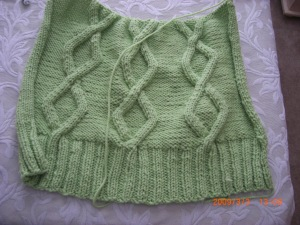 Back of cable vest